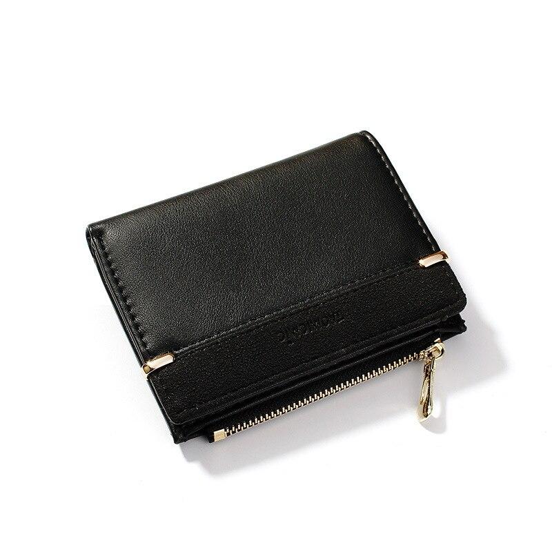 2019 Small Leather Wallet Women Vintage Women Wallets Luxury Brand Wallets Designer Purse Female Card Holder Coin Short Carteira