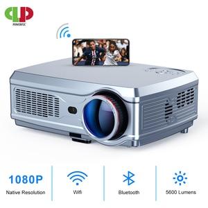 Image 1 - ที่มีประสิทธิภาพโปรเจคเตอร์Full HD 1080P LED proyector 3D Video Beamer HDMI 4Kสมาร์ทAndroid 7.1(2G + 16G) wireless WiFi Home Cinema