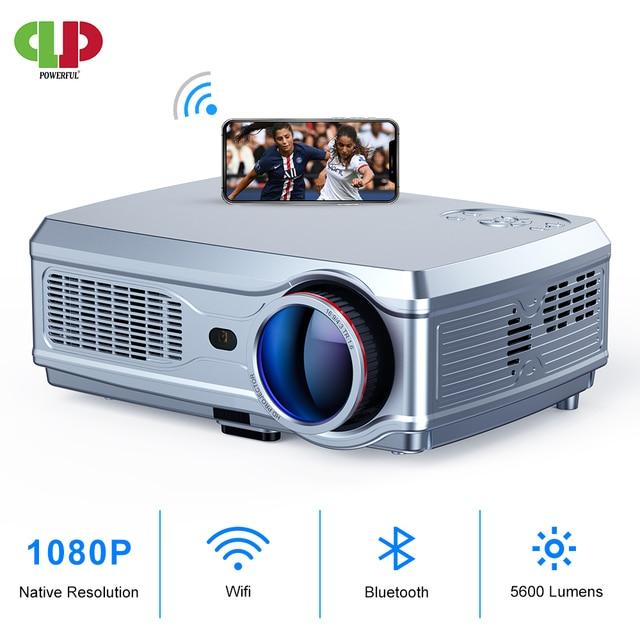 ที่มีประสิทธิภาพโปรเจคเตอร์Full HD 1080P LED proyector 3D Video Beamer HDMI 4Kสมาร์ทAndroid 7.1(2G + 16G) wireless WiFi Home Cinema