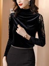 Хлопок fashiont рубашка для женщин с длинными рукавами; Сезон