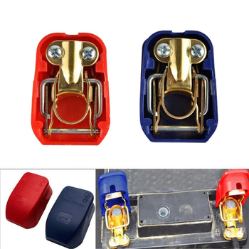 2PCS Auto Car 12V Car Battery Terminals Connector Switch Clamps Quick Release Lift Off Positive & Negative image