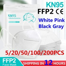 5-100 pieces Reuseable KN95 Mask Safety Dust Respirator Mask Face Masks Mouth Dustproof Protective Mascarillas FPP2 Kn95Mask