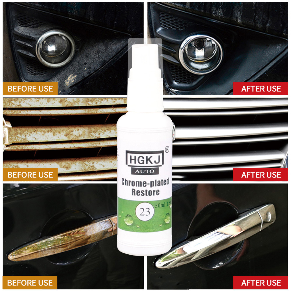 HGKJ-23-20ml Chrome Plate Retreading Agent Car Logo Rust Removal Spray Cleaner