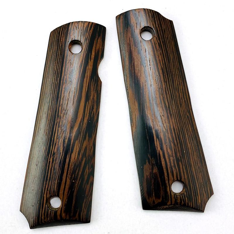 2Pieces Gun 1911 Grips Natural Chicken Wing Wood Handle Grips Patch Custom Grips CNC Gun Handle Grips
