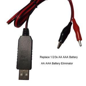 Image 2 - AA AAA Battery Eliminator USB 5V to 1.5V/3V/4.5V Step down Cable for Clocks Toys N0HC