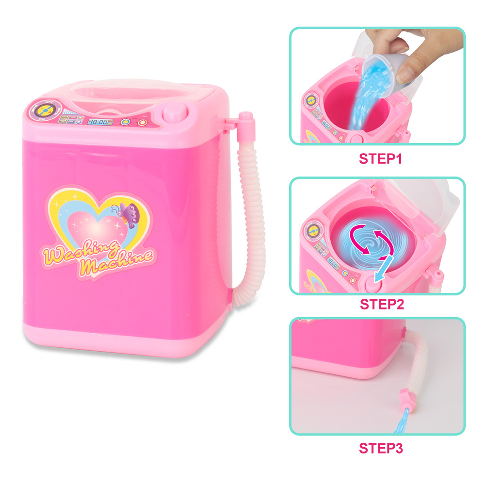 Mini Electric Washing Machine Makeup Brush Cleaner Automatic 360 Rotation Kids Toys Portable Beauty Tool Wash Machine Drop Ship