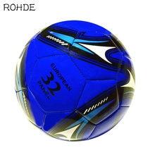 ROHDE – ballon de Football en PVC bleu, balle à coudre, pleine taille, no2345e, entraînement et divertissement
