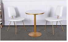 Leisure coffee shop discussion table and chair combination marble net red shop restaurant small round table milk tea shop table