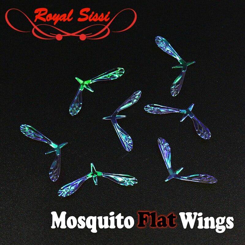Quintessenz 10pairs regenbogen film realistische moskito flügel dry fly perlglanz klar textur reel flügel für trout fly fishing