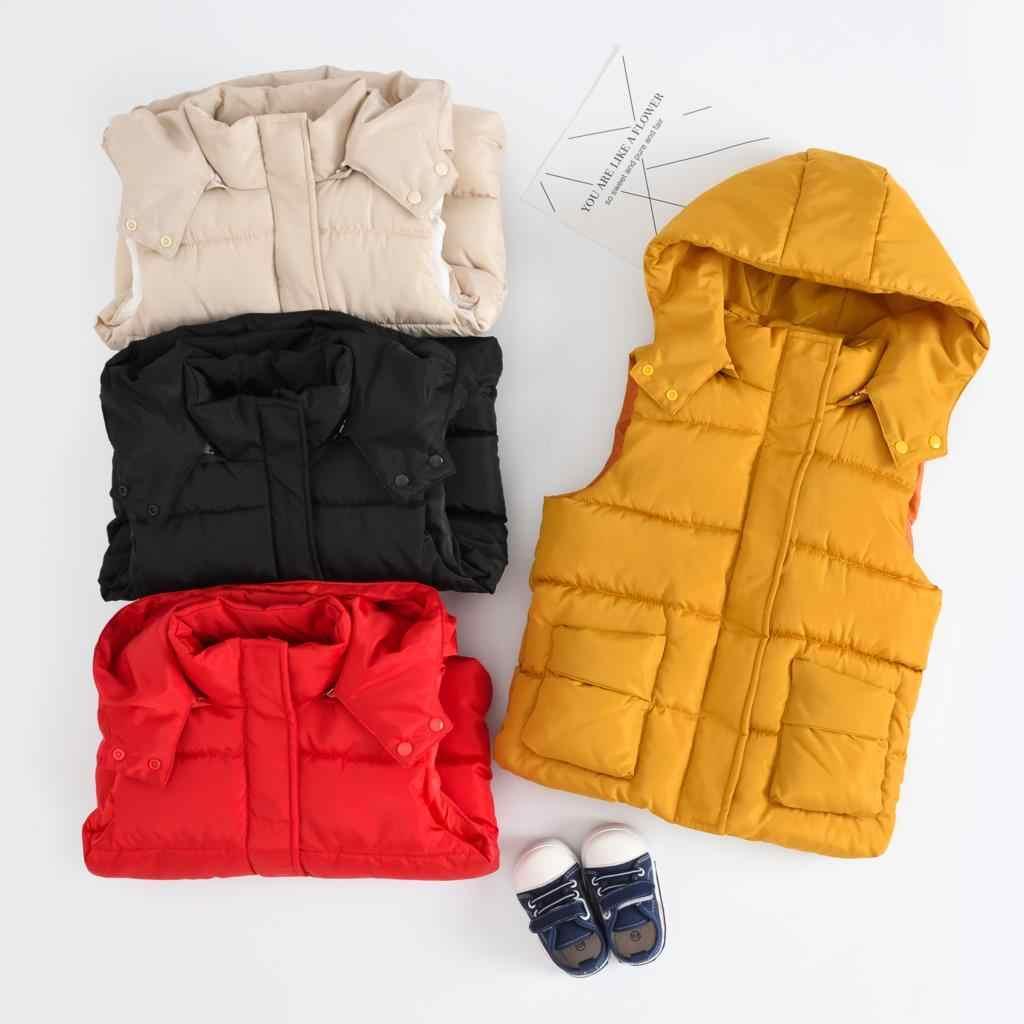 OLEKID 2019 Sıcak Kış Kızlar Pamuklu Yelek Sonbahar Çocuk Boys Kolsuz Ceket 2-10 Yıl Çocuk Bebek Kız Ceket erkek bebek Yelek