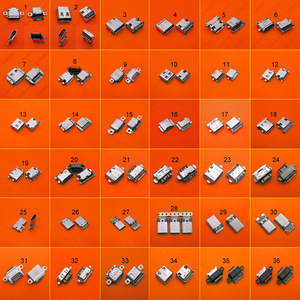 Image 1 - 36 モデル 36 個マイクロ Usb タイプ C コネクタ充電ドックポートプラグタイプ C USB ソケットジャックサムスン Xiaomi Huawei 社など