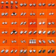 36 Mẫu 36 Chiếc Micro USB Kết Nối Loại C Sạc Dock Sạc Cắm Cổng USB Loại C Ổ Cắm Jack dành Cho Samsung Xiaomi Huawei V. V...