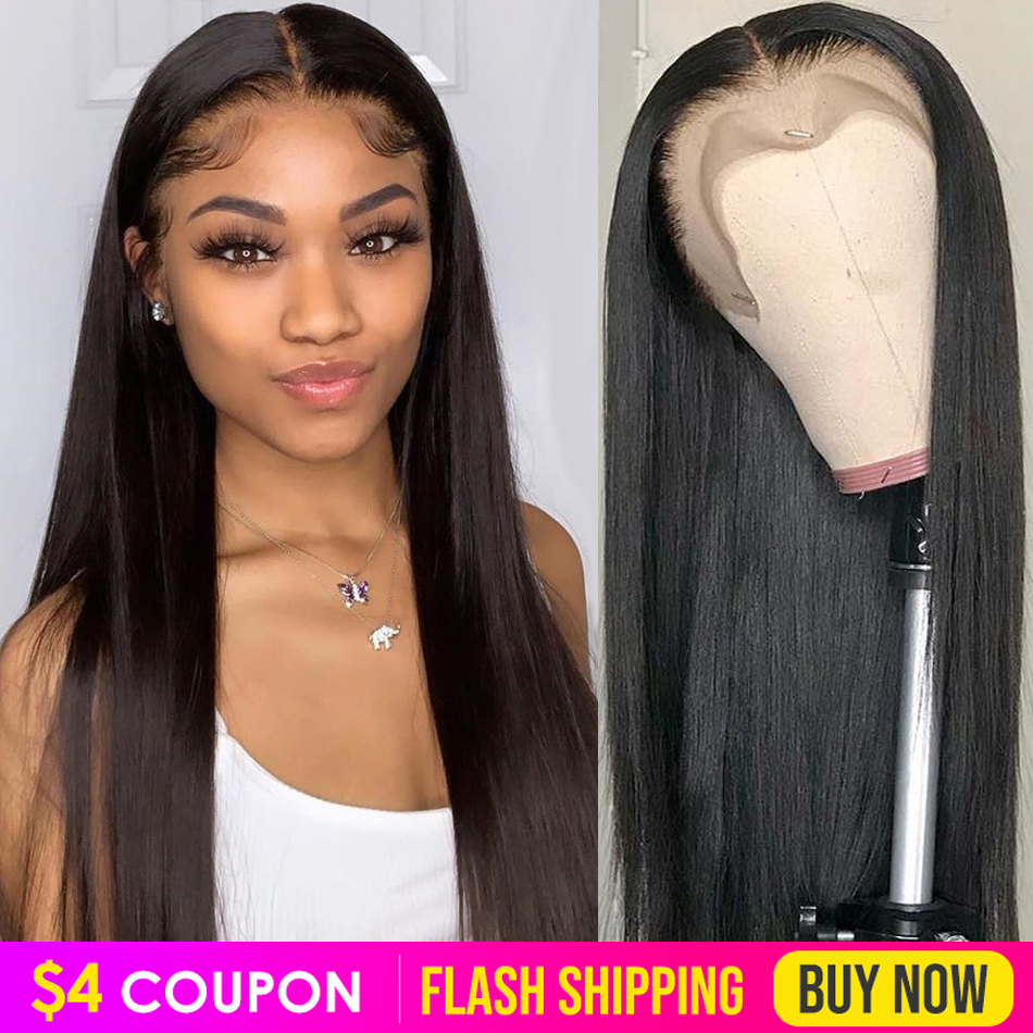 Straight Lace Front Human Hair Wigs Virgo Pre Plucked 13x4 8-26 Inch Nadula 150% Brazilian Straight Remy Hair Lace Frontal Wigs