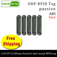 UHF RFID metal tag 915mhz 868m M4QT EPC 110*25*12.85mm 5pcs free shipping durable ABS Material rack smart card passive RFID tags