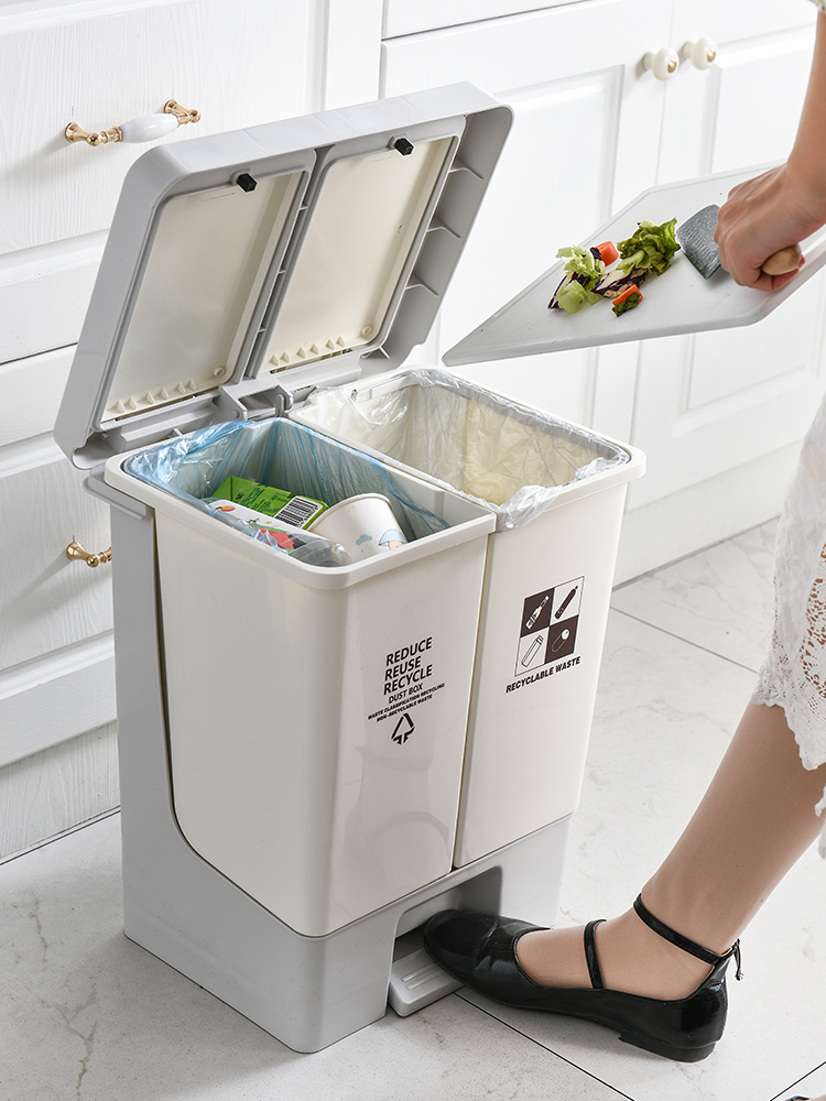 Kitchen Trash Cans | Garbage Trash Cans Bins Kitchen Storage Vertical Zero Waste Sorting Zero Waste Garbage Bag Holder Recyclable Poubelle De Cuisin