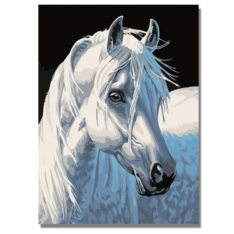 Полностью круглое Сверло Diy 5d картина из страз с изображением лошади голова рисунок Алмазная вышивка крестиком Мозаика картина из страз подарки Алмазная роспись, вышивка крестом      АлиЭкспресс