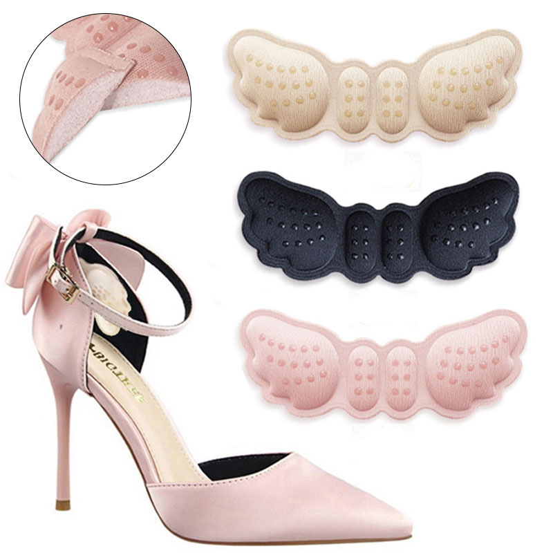 2019 Butterfly Shoe Insoles For Heel Shoes Heel Stickers Shoes Length Heel Pad Adjustment Soft Anit-slip Feet Protector Cushions