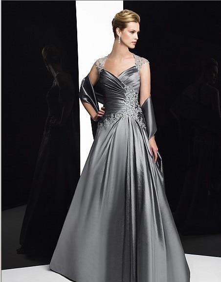 Free Shipping 2016 New Design Vestidos De Festa Long Dress Lace Cap Sleeve Plus Size Party Evening Elegant Dress Formal Gown