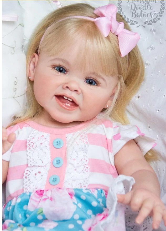 28inch Reborn Toddler Doll Kit Unpainted Girl Baby Reborn Silicone Vinyl Doll Mould Parts DIY Toys Gift