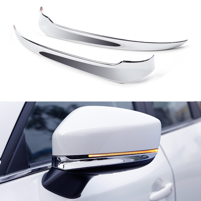 Accessories High Quality ABS Chrome Car Door Side Rearview Mirror Cover Trim 2pcs/set for <font><b>Mazda</b></font> <font><b>CX5</b></font> CX-5 2017 2018 image