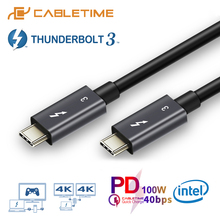 2019 NEW USB 3.1 Type C to Thunderbolt 3 Cable Certified PD 40Gbps 100W Fast for Macbook Pro Quick Charge C024