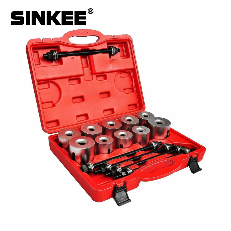 27Pcs Pull And Press Sleeve Tool Kit Set Seal Bearing Cars LGV HGV Bush Removal