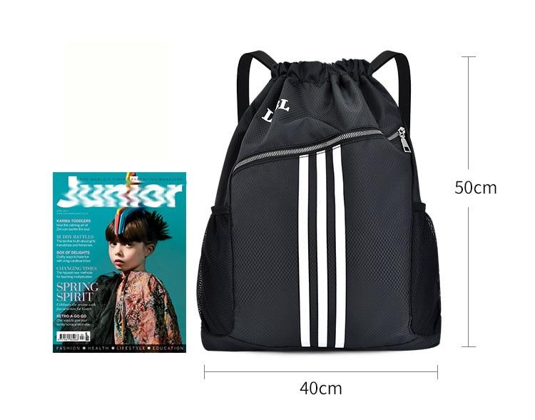 Спортивные сумки для занятий спортом на открытом воздухе, баскетбольный рюкзак для спортивных сумок, женская сумка для занятий фитнесом и йогой, спортивная сумка на шнурке-4