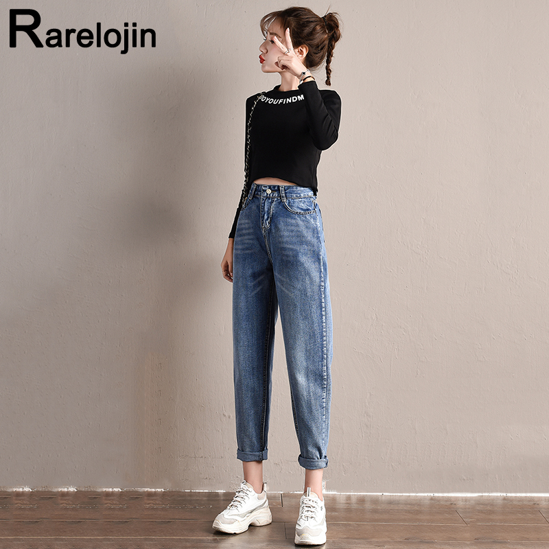 Spring Autumn Jeans New Korean Fashion Casual Tide High Waist Jeans Plus Size Female Jeans Women Jeans Loose Wild Wide Leg Pants