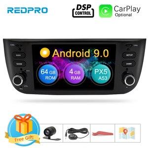 Image 1 - Android 9,0 Octa Core coche estéreo reproductor Multimedia para Fiat Grande Punto Linea 2012 2017 Auto Radio de Audio FM WIFI GPS de navegación