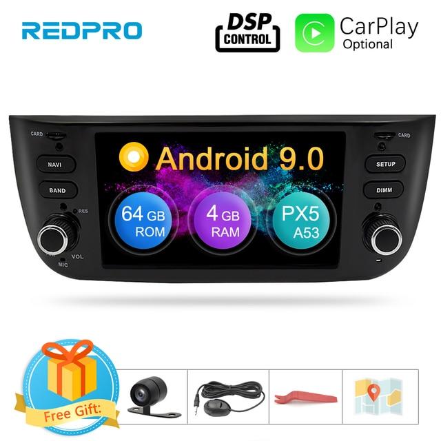 Android 9.0 octa core samochodowe stereo odtwarzacz multimedialny dla Fiat Grande Punto Linea 2012 2017 Auto radio samochodowe FM WIFI nawigacja GPS