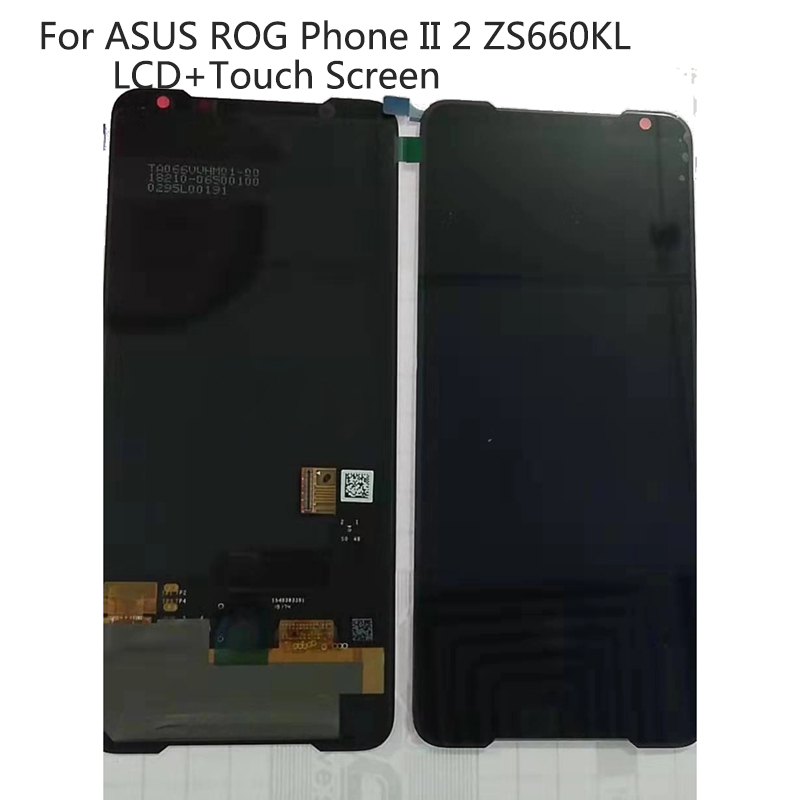Original LCD 6.59'' For ASUS ROG Phone II 2 ZS660KL I001D LCD Display Touch Screen Digitizer Assembly Replacement Screen LCD