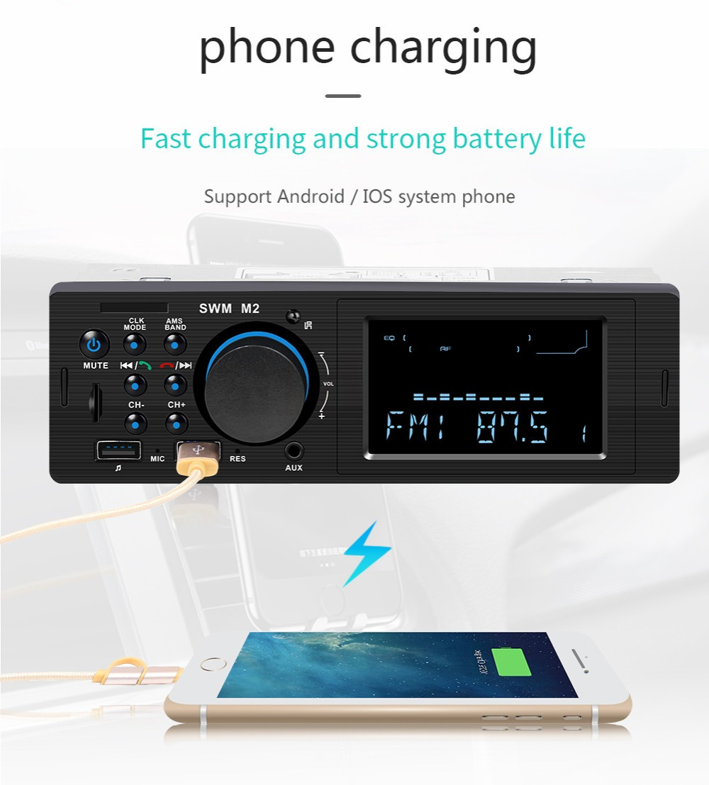 Bluetooth FM AUX Mp3 Bluetooth Car Radio Stereo Receiver 1 Din Auto Cars Audio Modulator Central Multimedia Cassette player (1)
