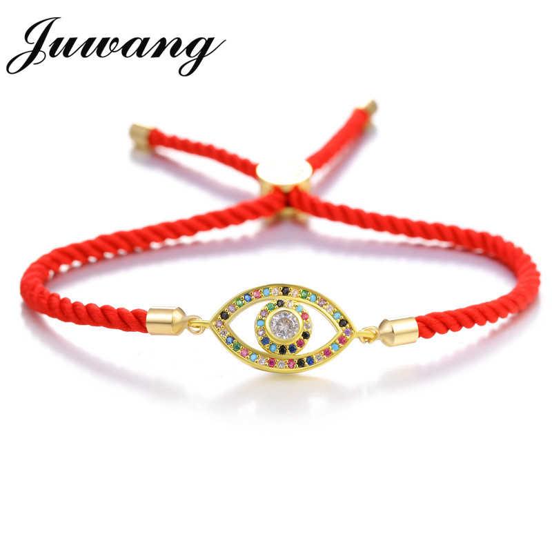 JUWANG 甘い花のブレスレット赤ロープブレスレット赤コードラインスレッド String ブレスレットオム Pulseras 腕章