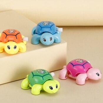 Cartoon Animals Baby Wind-up Turtle Chain Clockwork Toy Small Turtle Bath Classic Toys Educational Kids Random Color недорого