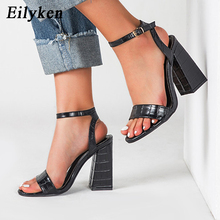 Eilyken Sexy Buckle Strap Square High Heels Women Gladiator Sandals