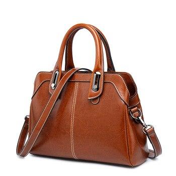 genuine leather bag for women handbag Lady's bag large capacity shoulder crossbody bag high quality tote bag Crossbody C1184