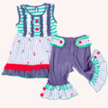 TUTU AND LULU Green cherry gray dress suit The latest garden suit for girls