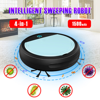Multifunctional Robot Vacuum Cleaner 4-In-1 Auto Rechargeable Smart Sweeping Robot Dry Wet Sweeping Vacuum Cleaner Home Robot 4 in 1 multifunctional robot vacuum cleaner vacuum sweep sterilize air flavor lcd remote control timing setting self charging