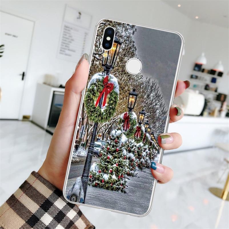 TPU عيد الميلاد الغزلان حافظة لهاتف Huawei P20 P30 P9 P8 P10 زائد زميله 10 20 30 لايت برو 2017 فوندا لهواوي P الذكية Z زائد 2019 كوكه