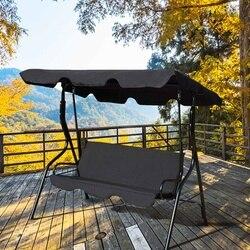 3 シートスイングカバー庭のカバー防水 UV にくい椅子シェードダスト/屋外中庭ハンモックテントスイングトップカバー