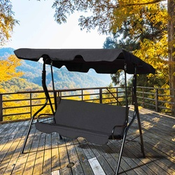 3 Kursi Ayunan Penutup Taman Cover Tahan Air UV Tahan Warna Debu/Berlayar Halaman Outdoor Hammock Tenda Swing Top cover