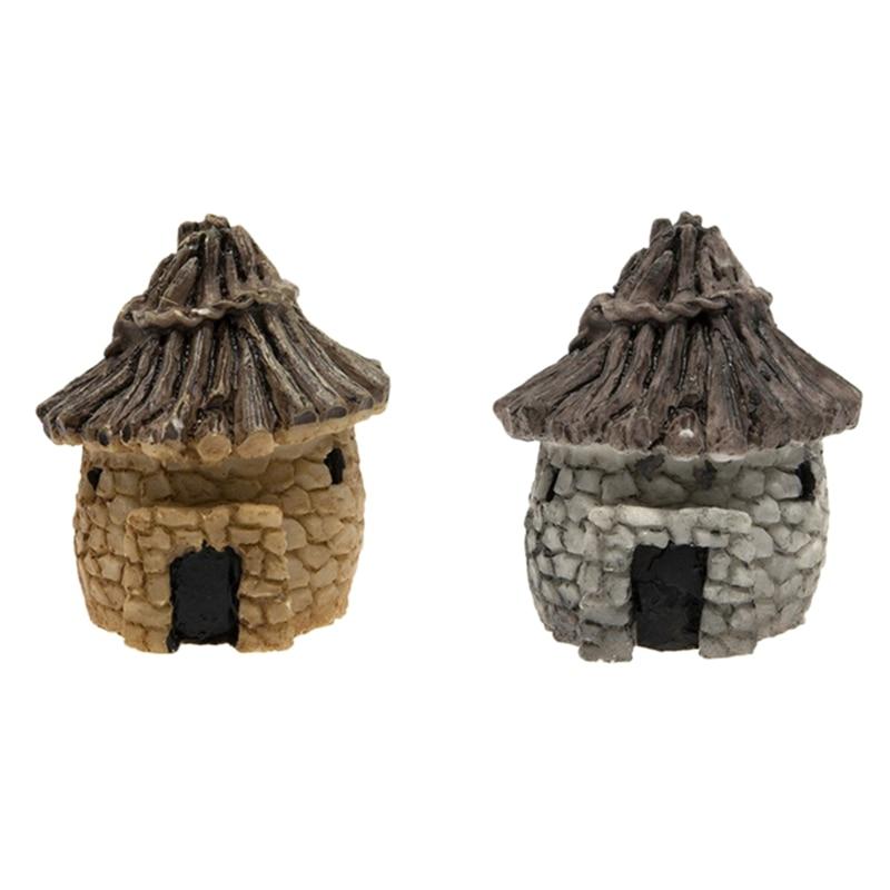 Fairytale Garden Stone House Miniature Craft Mini Landscape Decoration   - title=