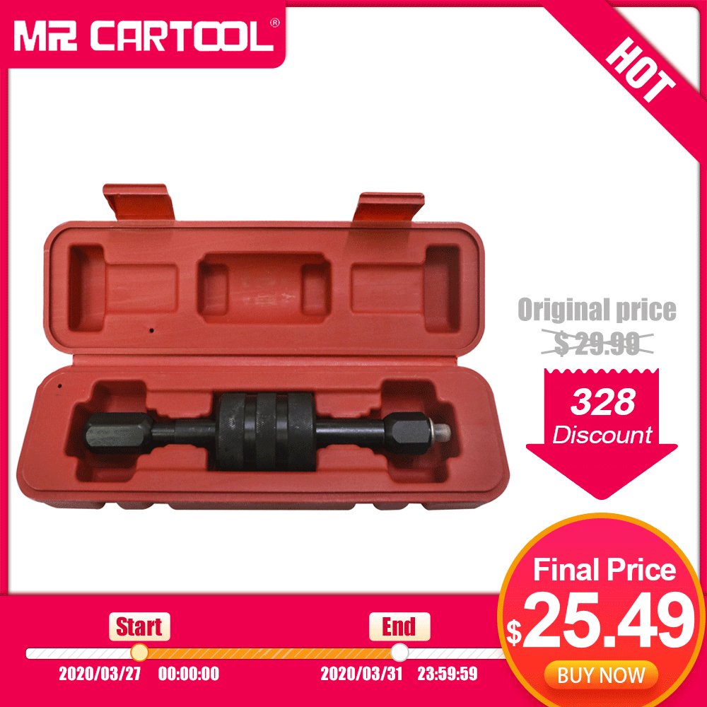 MR CARTOOL Diesel Injector Removal Puller Common Rail Injector Remover M8, M12, M14 Thread Adapter For Bosch Delphi Injector
