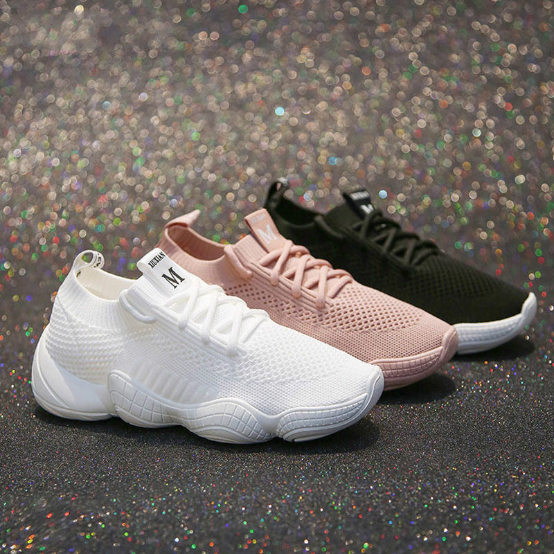 LZJ New 2019 Fashion Spring Summer Wild White Breathable Women Sneakers Korean Sports Leisure Shoes Women Black Vulcanize Shoe