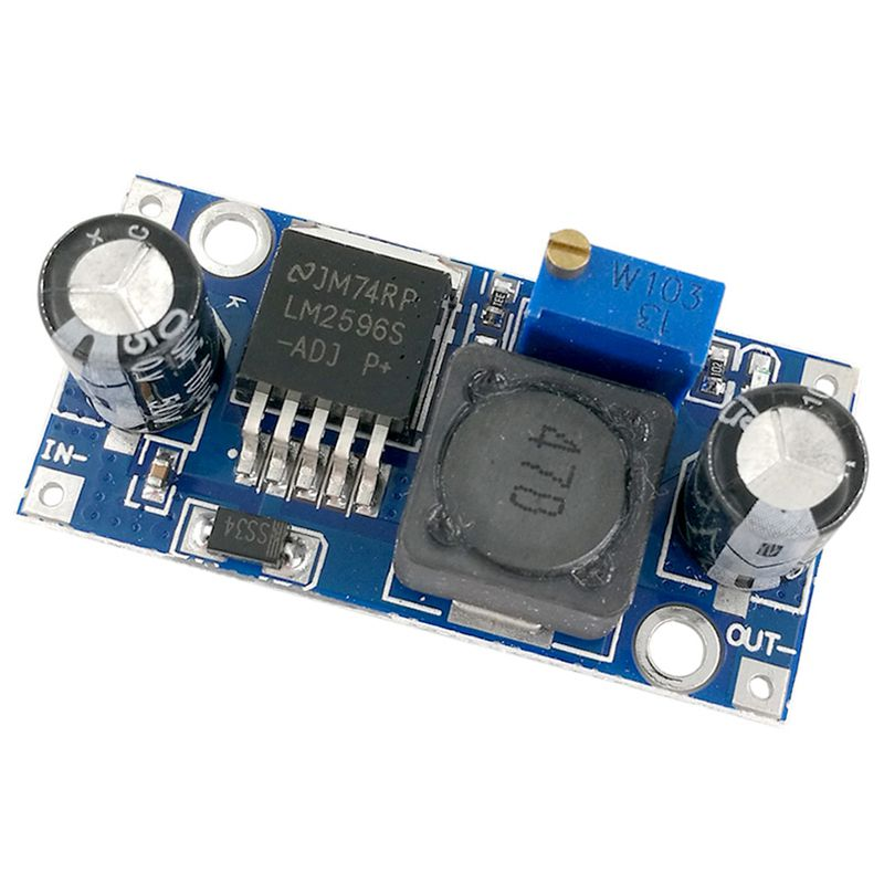 AAAE Top-DC-DC 3A Buck Converter Step Down Diy Kit Electronic PCB Board Module LM2596 Power Supply Board Output <font><b>4V</b></font>-35V 1.23V-30V image