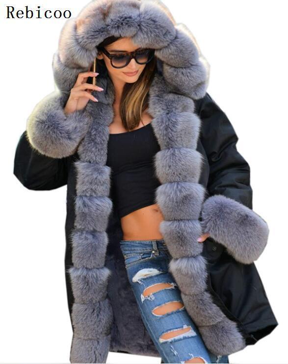 Camouflage uniformes col de fourrure artificielle à capuche femmes Parker manteau manteau chaud manteau 2018 automne et hiver coton armée manteau