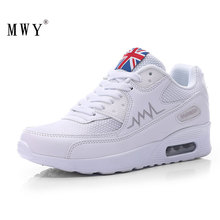 MWY Fashion Korean Comfortable Sneakers Woman Lace Up Air Cushion Trainers Zapatillas Mujer Casual Outdoor Walking Shoes