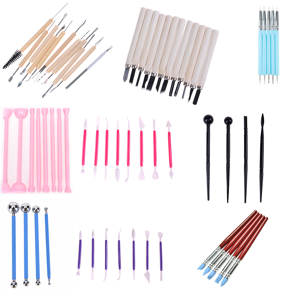 1/3/5/8/14pcs/set Multifunction Handle Wax Pottery Clay Sculpture Carving Modeling Wire Texture Tool  DIY Craft