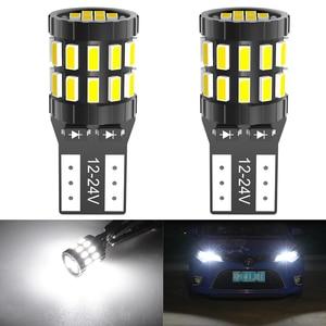 2x t10 led 168 2825 canbus lâmpada para toyota C-HR corolla rav4 yaris avensis camry chr carro interior luz da placa de licença lâmpada tronco