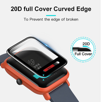 screen film BAPICK Protective Glass For Xiaomi Amazfit Bip Screen Protector Protection Full Cover Huami Amazfit Bip Film Glass Accessories (3)